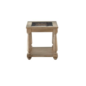 Transitional End Table with 1 Shelf