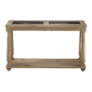 Transitional Sofa Table with 1 Shelf