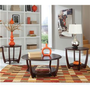 3-Pack Curved Occasional Table Set