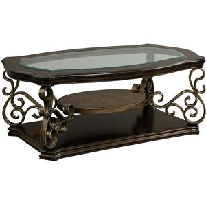 Glass Top Cocktail Table with Casters