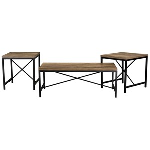 Industrial Occasional Table 3-Pack
