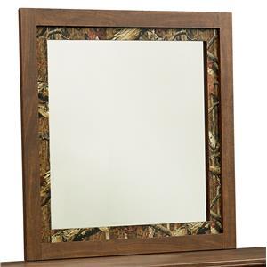 Camouflage-Framed Mirror