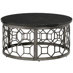 Round Cocktail Table with Stone Top