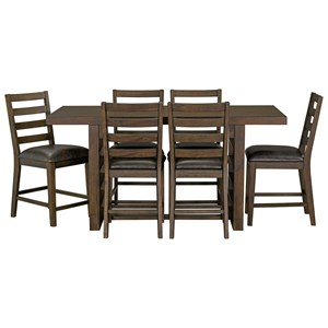 Rustic Counter Height Table and Chair Set