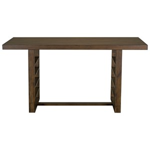 Rustic Counter Height Table with Ladder Trestle Base