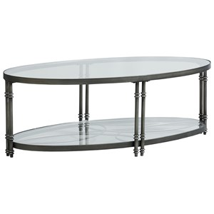 Contemporary Oval Cocktail Table