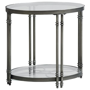 Contemporary Oval End Table