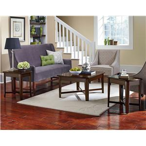 3 Piece Occasional Table Set with Cocktail Table and End Tables