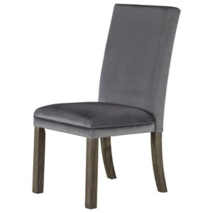 Set of Two Upholstered Dining Side Chairs - Grey