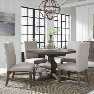 Five Piece Dining Set with Round Table