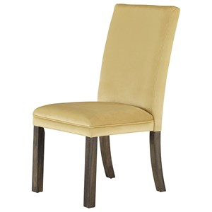 Set of Two Upholstered Dining Side Chairs - Yellow