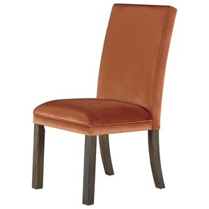 Set of Two Upholstered Dining Side Chairs - Orange