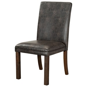 Set of Two Faux Leather Dining Side Chairs - Sierra