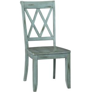 Dining Side Chair with X Back