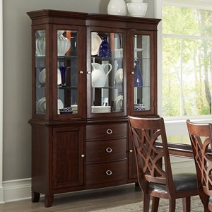 Traditional Dining Buffet and Hutch with Mirrored Back