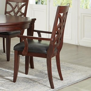 Traditional Dining Arm Chair with Upholstered Seat 2-Pack