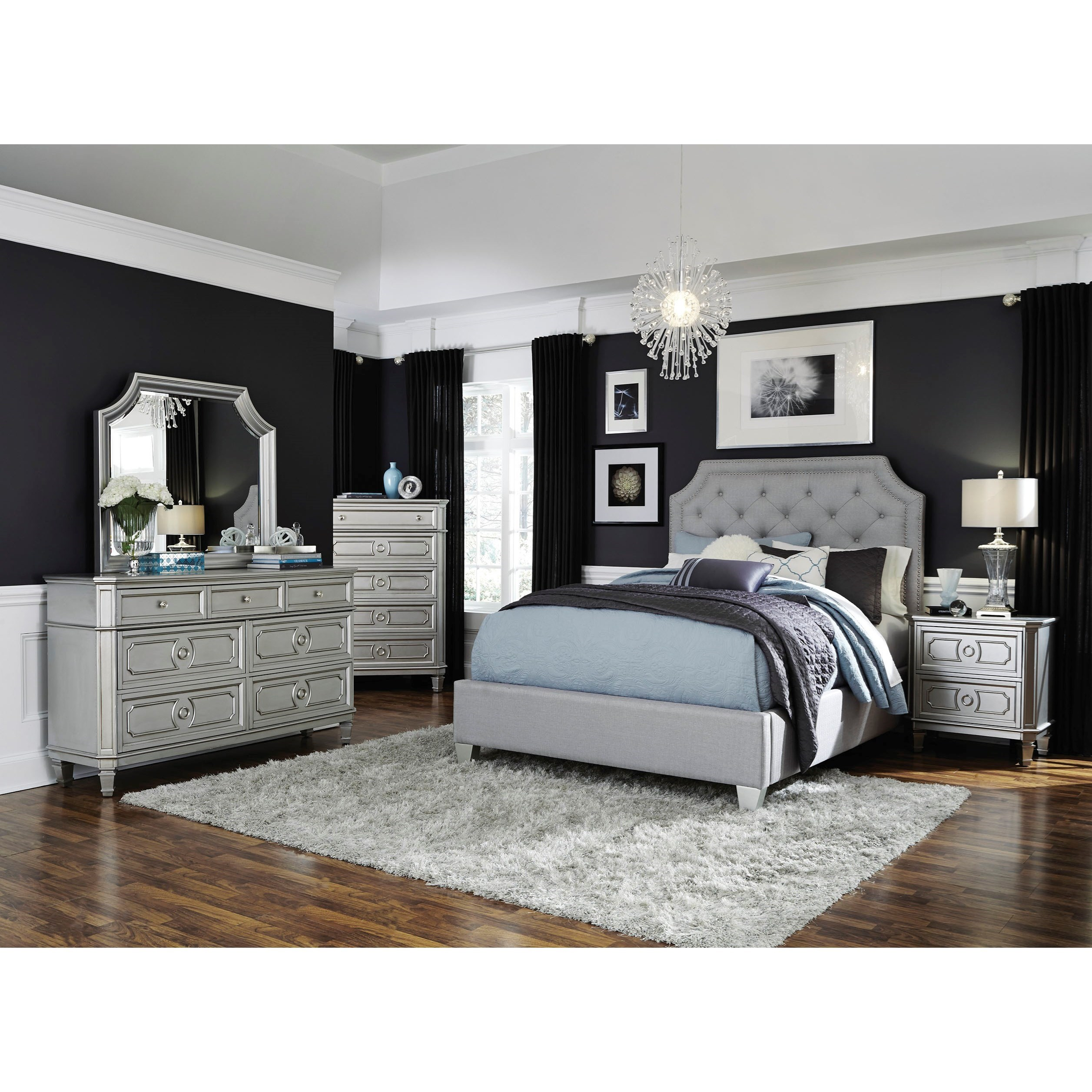 Windsor Silver Queen Bedroom Group by Standard Furniture at Rooms for Less
