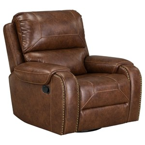 Casual Swivel Reclining Chair with Glider Base