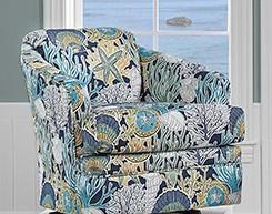 40SW SWIVEL CHAIR SEGA BLUE SWIVEL CHAIR by Stanley Chair Company at Furniture Fair - North Carolina