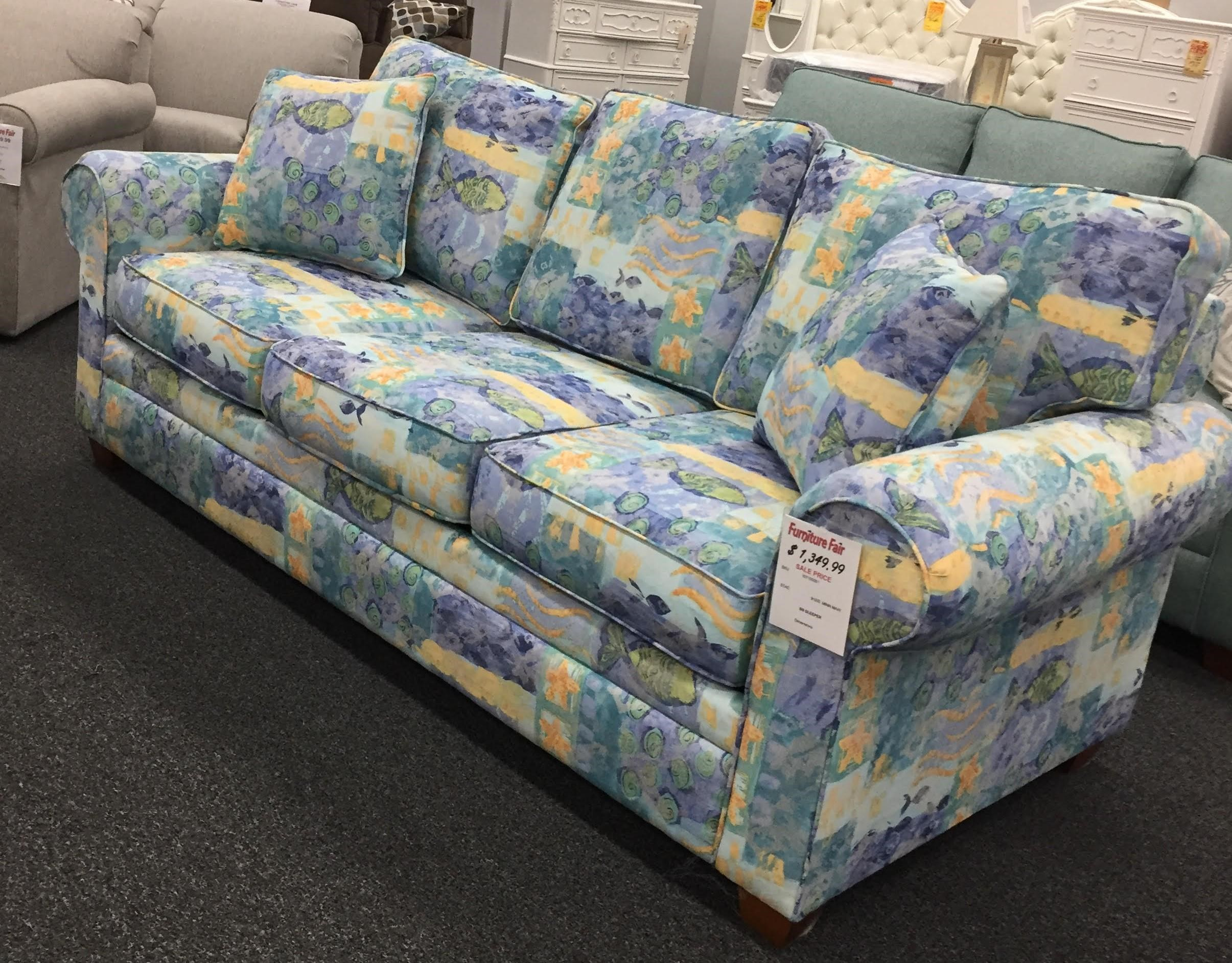 912Turquoise Queen Sleeper Sofa - MINNOW MARINE by Stanley Chair Company at Furniture Fair - North Carolina