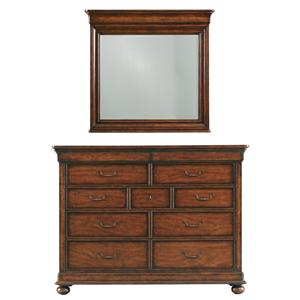Stanley Furniture The Classic Portfolio - Louis Philippe Dressing Chest & Mirror