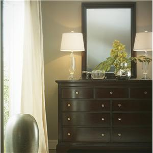 Stanley Furniture Transitional Dresser with Mirror