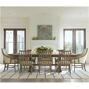9 Piece Shelter Bay Table and Chair Set