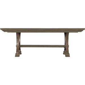 Shelter Bay Table with Pewter Pedestals and 2 Bread Board Leaves