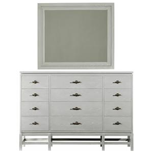 Stanley Furniture Coastal Living Resort Tranquility Isle Dresser & Day's End Mirror
