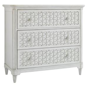 Cottage Style Media Chest with Fold Down Drawer