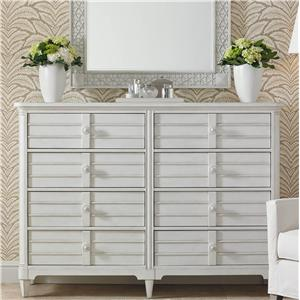 Cottage Style Dresser with Mirror