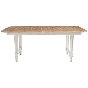 Cottage Style Rectangular Dining Table with Leaf