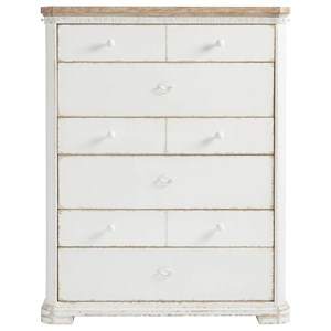 Drawer Chest with Pull Out Hanging Rods