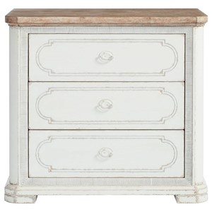 Bachelor's Chest with Routed Pattern on Drawer Fronts