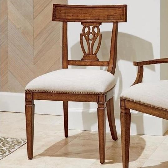 Old Town Wood Back Side Chair by Stanley Furniture at Alison Craig Home Furnishings