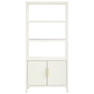 Archetype Bookcase with Glass Insert Shelves