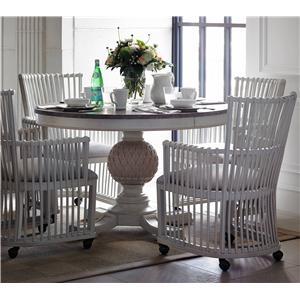 5-Piece Artichoke Pedestal Table & Hampton Club Chair Set