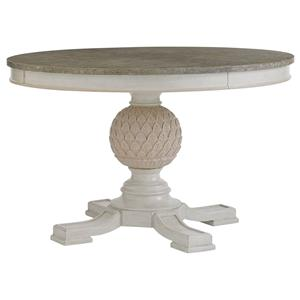Artichoke Pedestal Table with Leaf