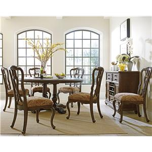 """Stanley Furniture Rustica 64"""" Round Table & Chair Set"""