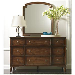 Antiqued Dresser & Mirror Set