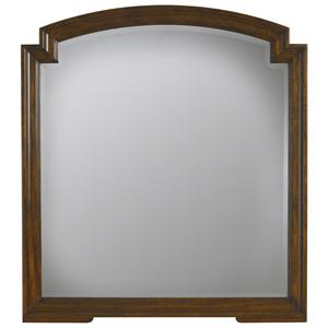 Beveled Mirror w/ Wood Molding