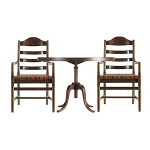 Stanley Furniture The Classic Portfolio Artisan 3 Piece Round Table with Arm Chairs