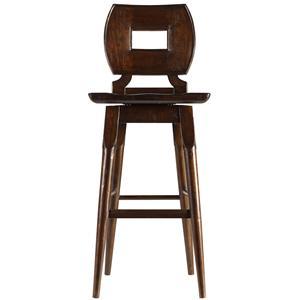 Stanley Furniture The Classic Portfolio Artisan Wood Bar Stool