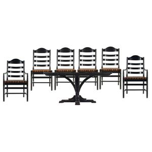Stanley Furniture The Classic Portfolio Artisan 7 Piece Table and Chair Set