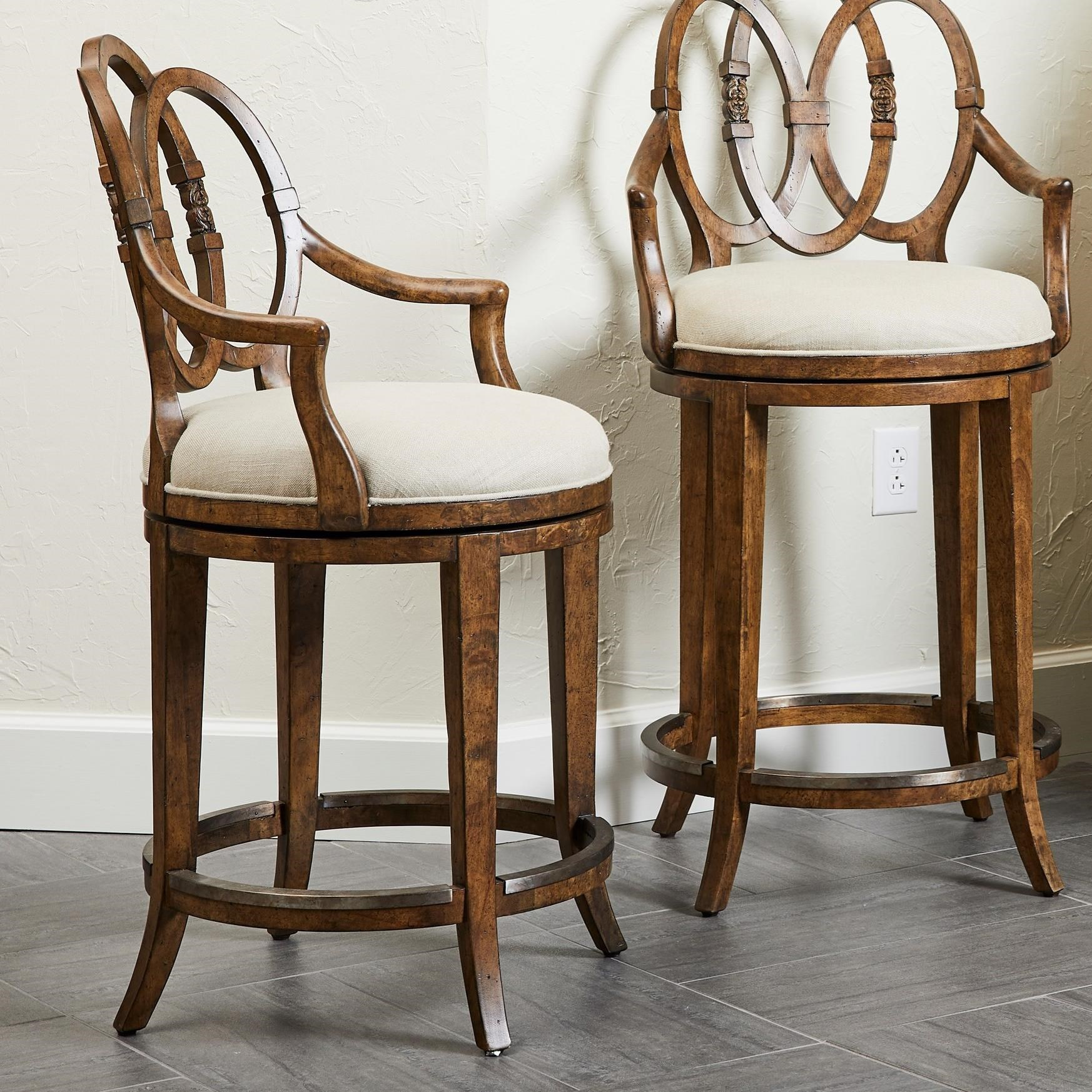Thoroughbred Whirlaway Counter Stool by Stanley Furniture at Alison Craig Home Furnishings