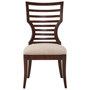 Wood Side Chair with Modern Ladder Back