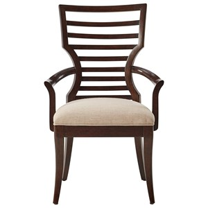 Arm Chair with Modern Ladder Back