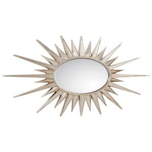 Oval Staburst Accent Mirror