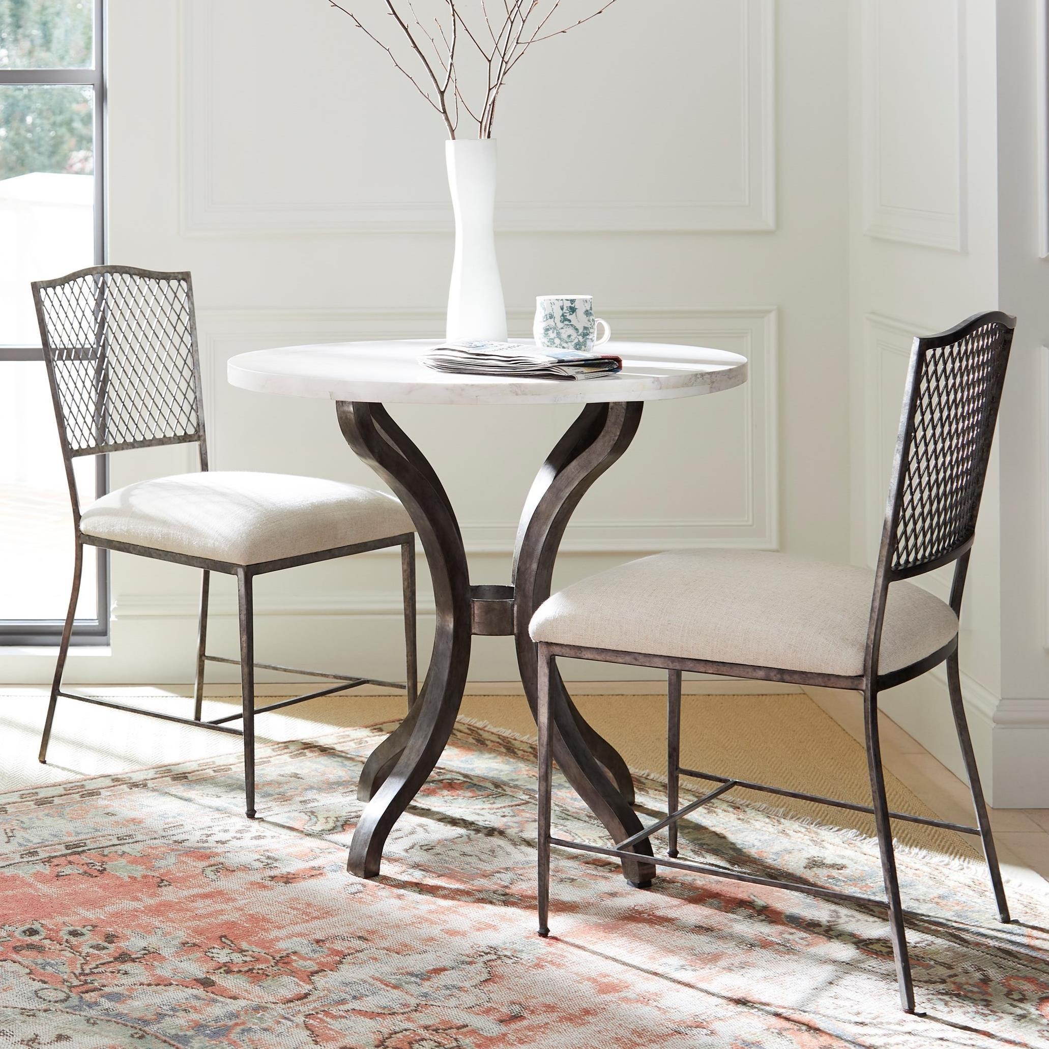 """Willow 3-Piece 32"""" Bistro Table Set by Stanley Furniture at Alison Craig Home Furnishings"""