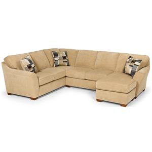 Contemporary L Shaped Sectional with Chaise